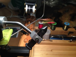 at the tying bench